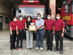 創甡生技捐贈強效保溼修護乳 呵護消防人員救災的辛苦與疼痛